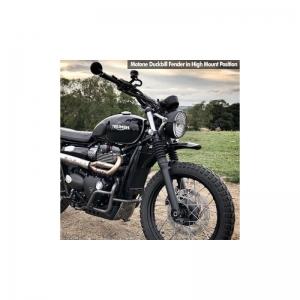 LQW HOME Parafango 1pc Black Metal Moto Parafango Anteriore Parafango Fit for Triumph Bonneville T100 Accessori Stampaggio Accessori Protettivi