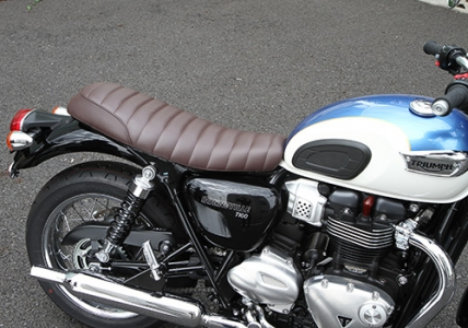 sella Nitroheads Tuck & Roll marrone Bonneville T100/T120 - 1