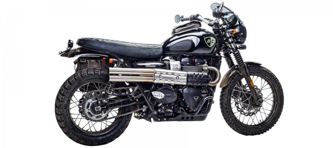 scarichi Shotgun British Customs per Street Scrambler